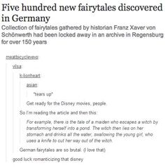 Come on, some of the  originals for today's Disney movies are just as brutal... Sleeping Beauty for example