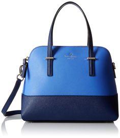 Kate Spade New York Cedar Street Maise Satchel In Ocean Blue/adventure Blue Blue Purse, Blue Bags, Kate Spade Satchel, Blue Handbags, Fashion Bags, Women's Fashion, Crossbody Bag, Satchel Bag, Leather Satchel