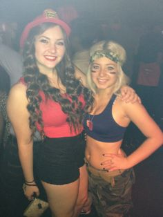 Fire Fighter and Army Girl | Halloween