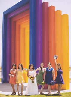 20 Mismatched Bridesmaid Dresses for Your Modern Wedding via Brit + Co