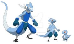 this is the Reptide evolution line #007 Shallozard Type: water Species: the lizard pokemon Entry: Shallowzard are known to stay around shallow part of the water in order to fine certain items. Shal...