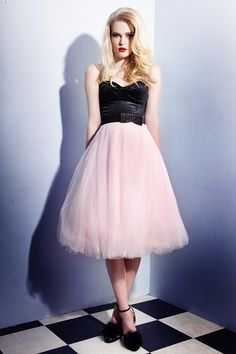 Soft tulle layered skirt with satin lining. just gorgeous!! #NicheFashion