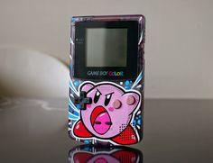 "Custom Art: Custom Game Boy Color ""KIRBY"""