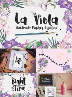 La Viola Typeface is a brilliant handmade display font that is free for one week only. It is also PUA Encoded meaning that it is fully accessible to everyone and all glyphs are available in Character Map on Windows and Fontbook on Mac.