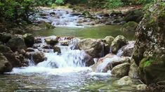 Kundalini Yoga, Pranayama, Short Prayers For Strength, Rocky River, Stock Footage, Waterfall, Outdoor, Free, Naturaleza