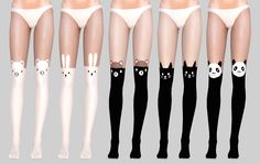 "andhisrabbits: "" Hella Cute Stockings (not really) Ok, so these are more like tights but who cares. They are hella cute. I saw them some time ago and I thought why not make them for sims, so yeah,..."