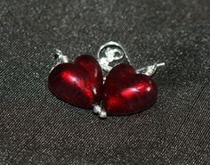 New listing, Ruby Red Murano Sterling Silver Earrings by EscapeArtsDevon