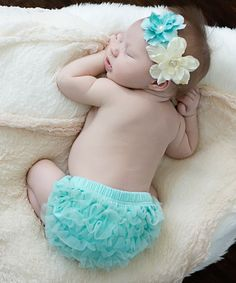 Decked in precious, frilly tulle, this dainty diaper cover feels as delightful as it looks. The accompanying headband pairs well for a look that warms hearts and generates smiles. Girl Nursery, Baby Knitting, Aqua, Ivory, Children, Cover, Girl Stuff, Bebe, Young Children