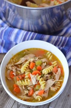 Weeknight Chicken Noodle Soup | mountainmamacooks.com
