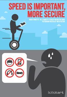 Don't forget~!! Road etiquette!!  #iclickart #Road_etiquette #illust