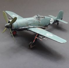 """brunos plane party on Instagram: """"Fw 190 v18 complete. Hobby Boss kit has GREAT fit on major parts. A few oddities, like the decking behind the pilot being totally bare (I…"""" Planes Party, Art Model, Fighter Jets"""
