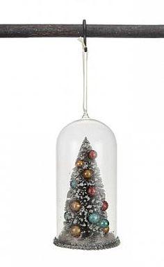 "7""H CHRISTMAS TREE W/ CLASS CLOCHE ORNAMENT"