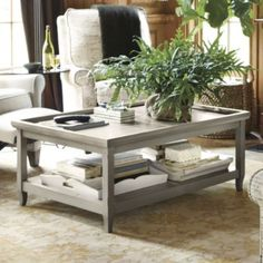 Love this Ballard Designs table for the front room!