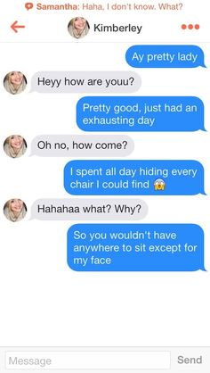 Awkward tinder conversations