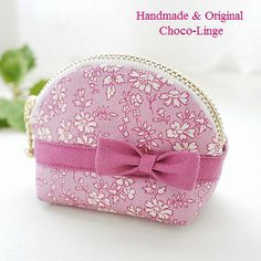 Choco-Linge ~ショコランジュ~ Purse Patterns, Mini Purse, Handmade Bags, Small Bags, Zipper Pouch, Cosmetic Bag, Couture, Purses, Wallet
