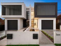 Row House Design, Duplex House Design, Modern House Design, Architects Sydney, Duplex Floor Plans, Modern Townhouse, Architectural House Plans, Architect House, Facade House