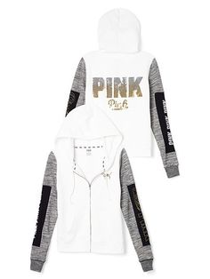 Perfect Full-Zip PINK LP-339-328 $79.95Super comfy and lightweight in a cute slim fit—it's basically the perfect hoodie. Must-have sweats by Victoria's Secret PINK. Slim fit Print graphics Soft, light & textured French Terry Front pockets Imported cotton/polyester