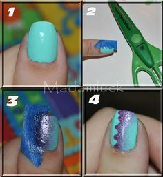 A Different kind of Gradient Nail Art-Tutorial