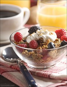 Homemade granola. A tasty way to start your day.