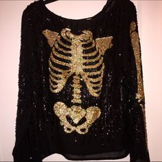 Perfect for Halloween! SUPER EFFIN' RARE.  Collectors item :). Wildfox white label inside out ballroom top Wildfox Tops Blouses