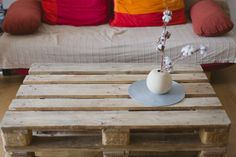 Palette Wood Coffee Table DIY | by Kate Breuer cook-and-create.com #palette #diy #furniture This would look cute at the lake house