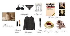 """Cozy evening in November rain."" by lili-rose17 ❤ liked on Polyvore featuring Agent Provocateur, Calvin Klein Underwear, Diptyque, Isabel Marant, Aurora, Filippa K and Lancôme"