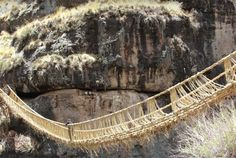 The Only Remaining Incan Rope Bridge Is Rebuilt Every Year