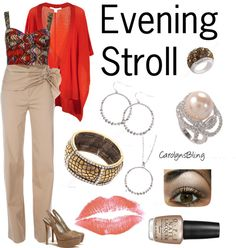 """Evening Stroll"" by carolynsbling on Polyvore"