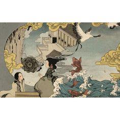 Papier peint japonais sur mesure la conteuse