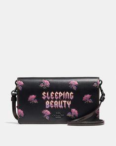 Coach Disney X Coach Sleeping Beauty Foldover Crossbody Clutch Coach Handbags, Louis Vuitton Handbags, Coach Bags, Coach Disney, Coach 1941, Coach Outlet, Crossbody Clutch, Disney Merchandise, Disney Style