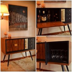 Mid century stereo, now trendy bar. www.capitulodosvintage.blogspot.com.ar