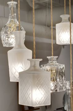 Whiskey decanters/bottles as #lamps