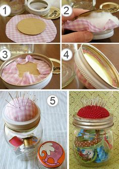 Mason Jar Pincushion Tutorial: Little Paper Dog