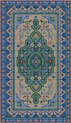 Charted Wool latchhook rug kits in traditional designs Cross Stitching, Cross Stitch Embroidery, Embroidery Patterns, Modern Cross Stitch Patterns, Cross Stitch Designs, Hama Art, Latch Hook Rugs, Mini Cross Stitch, Chart Design