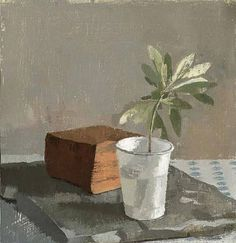Olive Branch in a White Plastic Cup, Susan Jane Walp