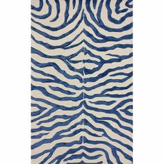 @Overstock - The zebra rug will add a stylish touch to your exotic home decor. The viscose is used in the stripes giving this rug a bold new look that sets it apart.http://www.overstock.com/Home-Garden/Handmade-Zebra-Blue-Faux-Silk-Wool-Rug-76-x-96/7277642/product.html?CID=214117 $442.25