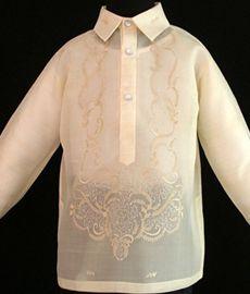 Piña-Jusi Boy's Barong Tagalog - Barongs R us Barong Tagalog, Filipiniana Dress, Philippines Fashion, Line Shopping, Formal Looks, Stylish, Boys, Lace, Clothes