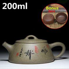 Chinese Porcelain Teapots Tea Pot 200ml Zisha Teapot Ceramic Yixing Tea Set Kettle Bonus 3 Tea Cups Famous Handmade Cups