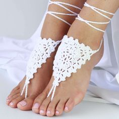 Crochet Barefoot Sandals, Bride Accessories, Bare Foot Sandals, Wool, Trending Outfits, Lady, Unique Jewelry, Handmade Gifts, Shoes