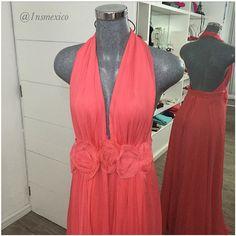 Adolfo Domínguez coral dress.