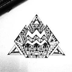 Aquarius Aztec Horoscope tattoo
