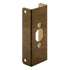 This lock and door reinforcer assists in preventing forced entry. It is easy to install and accommodates key-in-knob lockets or deadbolts. Used on wood or metal doors with mortise or drive-in latches...Learn More