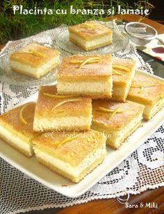 Placinta-cu-branza-si-lamaie-2 Romanian Food, Romanian Recipes, No Cook Desserts, Cake Cookies, Hot Dog Buns, Cake Recipes, Bakery, Deserts, Food Porn