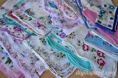 Antique Shopping in Wisconsin- vintage handkerchiefs!
