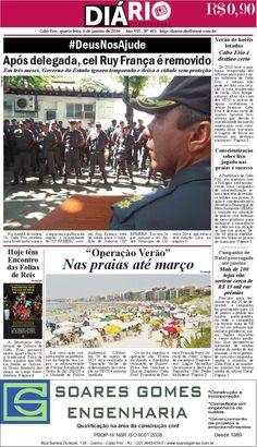 Folheie aqui o DIÁRIO CABOFRIENSE de quarta-feira, 6 de janeiro de 2015  Telma Flora | editora chefe <3