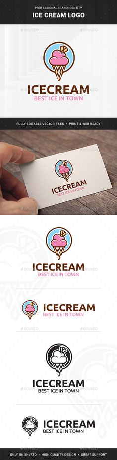 Girl Geek Logo Template by LiveAtTheBBQ The Girl Geek Logo TemplateA stylish logo featuring the head of a woman wearing glasses. All elements are fully vector and can be Ice Logo, Ice Cream Logo, Ice Cream Brands, Typography Logo, Logo Branding, Branding Design, Sweet Logo, Ice Cream Design, Food Logo Design