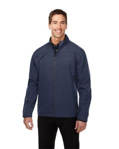 Mens bonded zip jacket smoky zip pull, two pocket with snap closure. Tri mountain J6468 #fashion #newlook #fresh