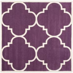 Chatham Purple/Ivory 8 ft. 9 in. x 8 ft. 9 in. Square Area Rug