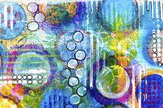 stencil background horizontal blue