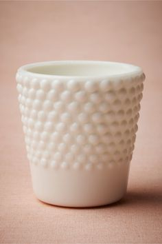 Milk Glass Hobnail Votive from BHLDN